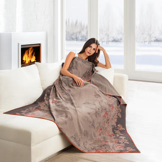 "Elegant Fleece Blanket ""Rose"" As light and as soft as a cashmere throw. As easy to care for as a hand towel."