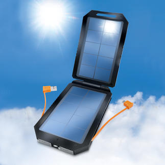 High-Performance Solar Battery Twice the charging capacity of comparable devices. Recharge at no extra costs using solar energy.