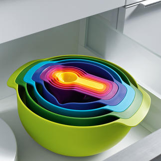 Joseph Joseph 9-in-1 set Practical and pretty – essential kitchen utensils that take up hardly any space.
