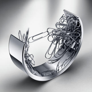 "Office Paper Clip Holder ""Bow"" A powerful magnetic field is the secret to its stylish design."
