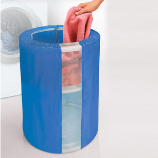 Autolift Laundry Basket Its contents can always be easily removed, without you straining your back. Light yet stable.