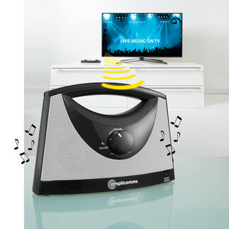 TV-SoundBox® Listen to your TV wherever you like. Wirelessly. At  the volume you prefer.