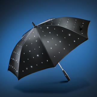 "LED Umbrella ""Starry Skies"" Brightly shining stars - even under dense clouds."