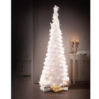 Magical LED Feather Tree Wonderfully romantic. Downy soft. Magical. Trendy. With 80 or 120 warm-white LEDs.