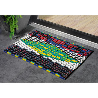 Beach Sandal Doormat Once created for colourful beach sandals. Now a stylish doormat.