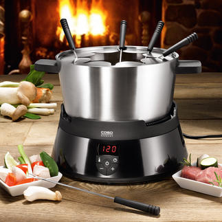 Caso® Induction Fondue Constantly at the right temperature. Much safer, cleaner and easier to use.
