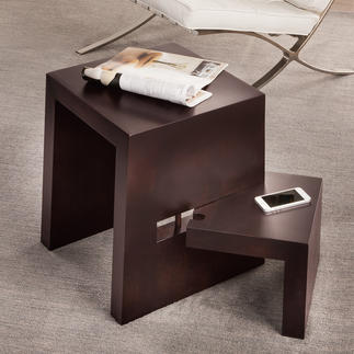 Designer Stool with swivel step The ingenious stool with a 180° swivel step. Perfect as a side table, seat or step ladder.