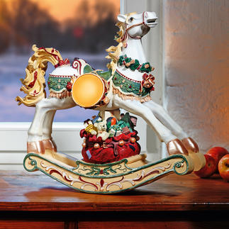 Nostalgic Rocking Horse An enchanting decoration and lovely childhood memento. Richly decorated and hand-painted.