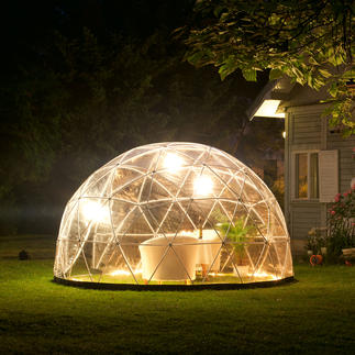 Garden Igloo, basic set with winter foil Relaxing oasis, shelter from wind & weather. Movable conservatory, greenhouse, winter quarters for plants.
