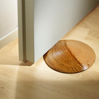 Teak Doorstop The elegant way to hold doors open. Ingeniously shaped with a convex surface. Each one unique.
