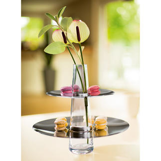 PHILIPPI Cake Stand and Vase Modern stainless steel design to serve cakes, canapés, fruit, etc. in style.