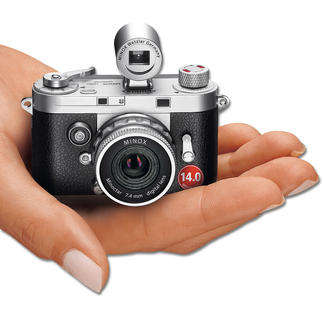 MINOX DCC 14.0 The retro camera with the digital technology of today. A masterpiece of precision mechanics. By MINOX.