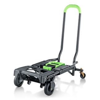 Foldable 2-in-1 Trolley Twice as handy: Trolley and handcart in one.