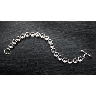 Quartz Crystal Tennis Bracelet The legendary tennis bracelet – now in a new, modern statement size. For every occasion.