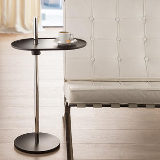Olivo Side Table Rotates 360°. Seamless height adjustment. With an ingenious leaf spring mechanism.
