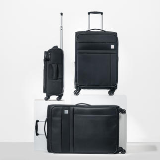 Oconi Dobby Nylon Trolley Sturdy dobby nylon. Elegant design. Practical features. Plenty of room.