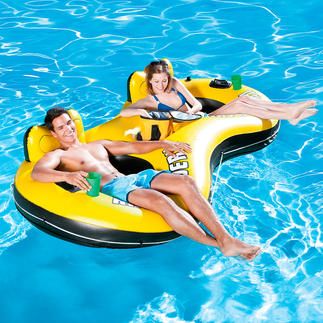 """Duo"" Inflatable Pool Chair Relaxing fun in the pool for 2. Cool drinks are always on hand."