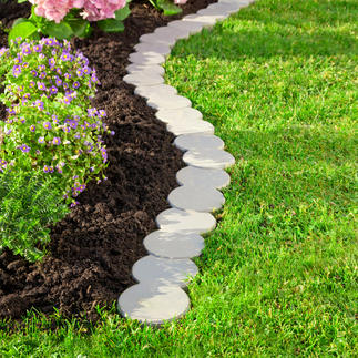 Variable Edging Stones, Set of 12 Easy and accurate edging. Patented plug-in system. Made of durable plastic with 30% wood content.