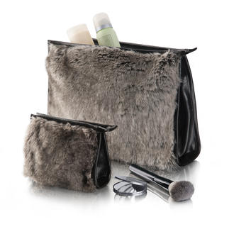 Timberwolf Cosmetic or Make-Up Bag Soft, stylish –and truly elegant. Exquisite faux fur from WINTER CREATION of Switzerland.