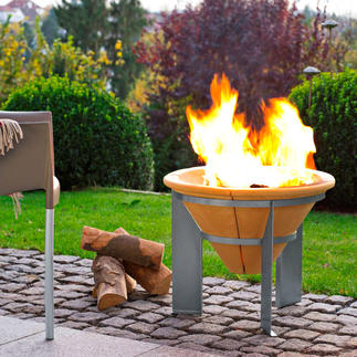 Brazier Impressive campfire. Up to 2 hours of residual heat after the embers have faded.