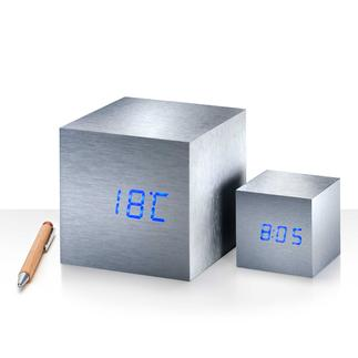 Maxi or Mini Cube A snap of the fingers – and time, date, temperature appear like magic.