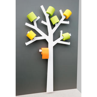 Toilet Roll Tree Wall sculpture? Decoration? The toilet paper holder with an amazing number of talents.