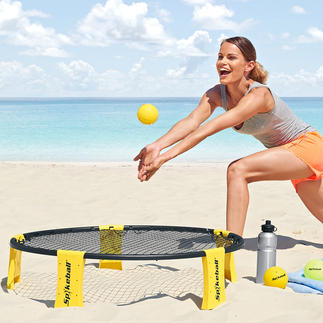 Spikeball® Set More dynamic than beach volleyball. Can be played anywhere. Set up in 5 minutes.