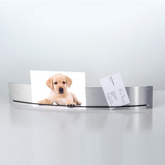 """Hold it"" Photo Holder Sleek and elegant - the stainless steel clamping strip for photographs, sketches, notes, etc."