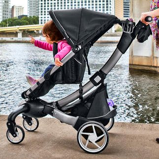 Origami™ Comfort Stroller It's the world's first power-folding stroller. At the touch of a button, it folds itself.