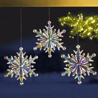 Rainbow Ice Crystal, Set of 3 Made of iridescent acrylic. Beautiful light reflections.