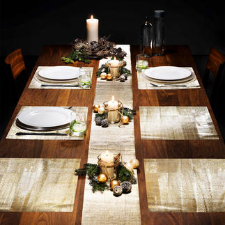 Glittering Table Foil, 9-piece set Protects your table from scratches and stains. Available in gold or silver colour to match any setting.