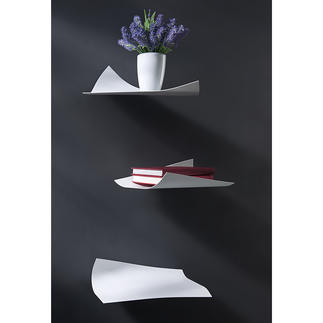 Blow Design Wall Rack, Set of 3 As delicate as paper but made from strong powder-coated steel.