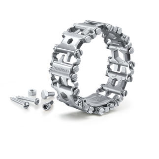 Leatherman® Tread™ Multi-Tool Bracelet Ingenious multi-tool bracelet made of specially hardened steel. From Leatherman®. Virtually indestructible.