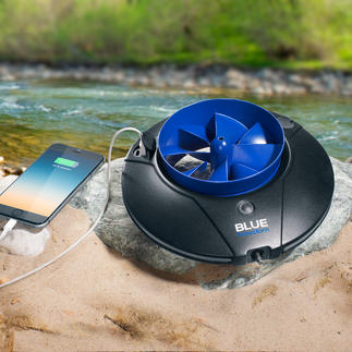 Blue Freedom Hydropower Plant Pocket sized mobile power generator. With additional LED light, bright as daylight.
