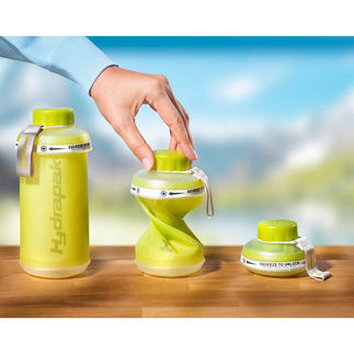 Foldable Water Bottle Drink. Fold. Stow. Practical nylon loop to attach it to a backpack.