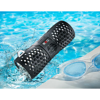 Bluetooth Outdoor Speaker Stylish. Powerful sound. Water resistant.
