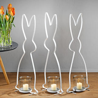 Vintage Hare Silhouette The hare tea light holder.