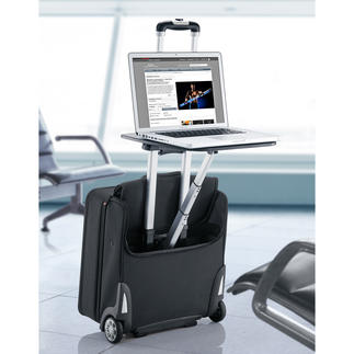 Traveldesk™ Business Trolley Instead of just waiting at airports or elsewhere when travelling, you can spend your time usefully in comfort.