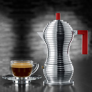 "Alessi Espresso Maker ""Pulcina"" Alessi's most beautiful espresso maker combined with Illycaffè's know-how."