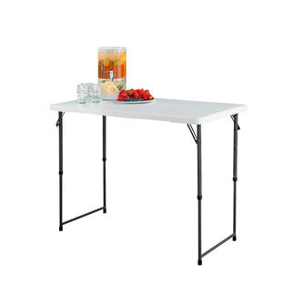Height-Adjustable Folding Table Versatile. Easy to carry, space-saving to store. Indispensable around the home, garden, on holiday.