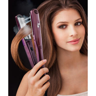 BaByliss® iPro 230 Steam Straightener Styles quickly, thoroughly and with care. With 5 temperature and 2 steam levels to suit all hair types.