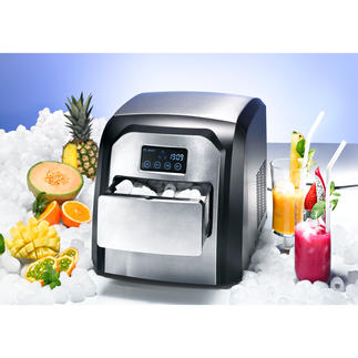 Design Ice Cube Maker Cool, compact and easy to use. With stainless steel front and touch display.
