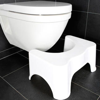 Toilet Stool Ensures an optimal, natural posture on the toilet. Painful straining is prevented.