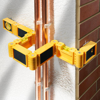 Flexxi-Snake® Hinged Spirit Level Bendable instead of rigid – the first hinged spirit level in the world.