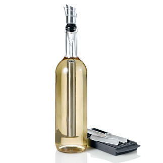 4-in-1 Icepour Cooling Rod Stainless steel cooling rod, pouring spout, aerator and bottle stopper in one. Keeps your wine perfectly cool.