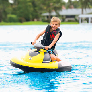 Inflatable Water Scooter The size of a sports bag. Up and running in just 10 minutes. No tools required.