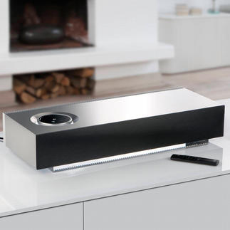 "Naim ""Mu-so"" Wireless Music System Stylish. Impressive sound quality.Wireless.Compact.An unbelievable music experience from virtually any source."