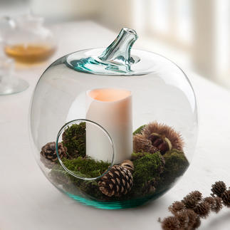 Glass Deco Apple Serving bowl, storage, decorative object, lantern ...