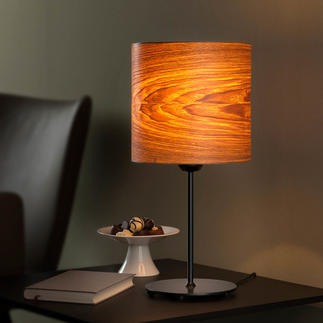 Design Genuine Wood Table Lamp The unique table lamp with precious olive ash veneer.