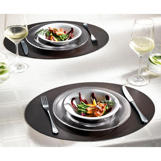 Table Mat, Set of 2 High quality bonded leather: Waterproof, stain resistant and permanently beautiful.